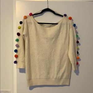 Anthropologie Pom sweater